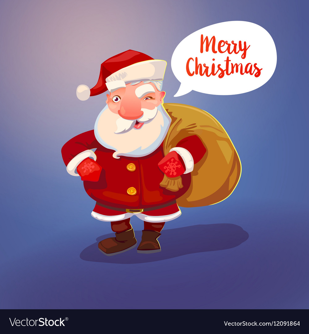 Santa Claus character and sack