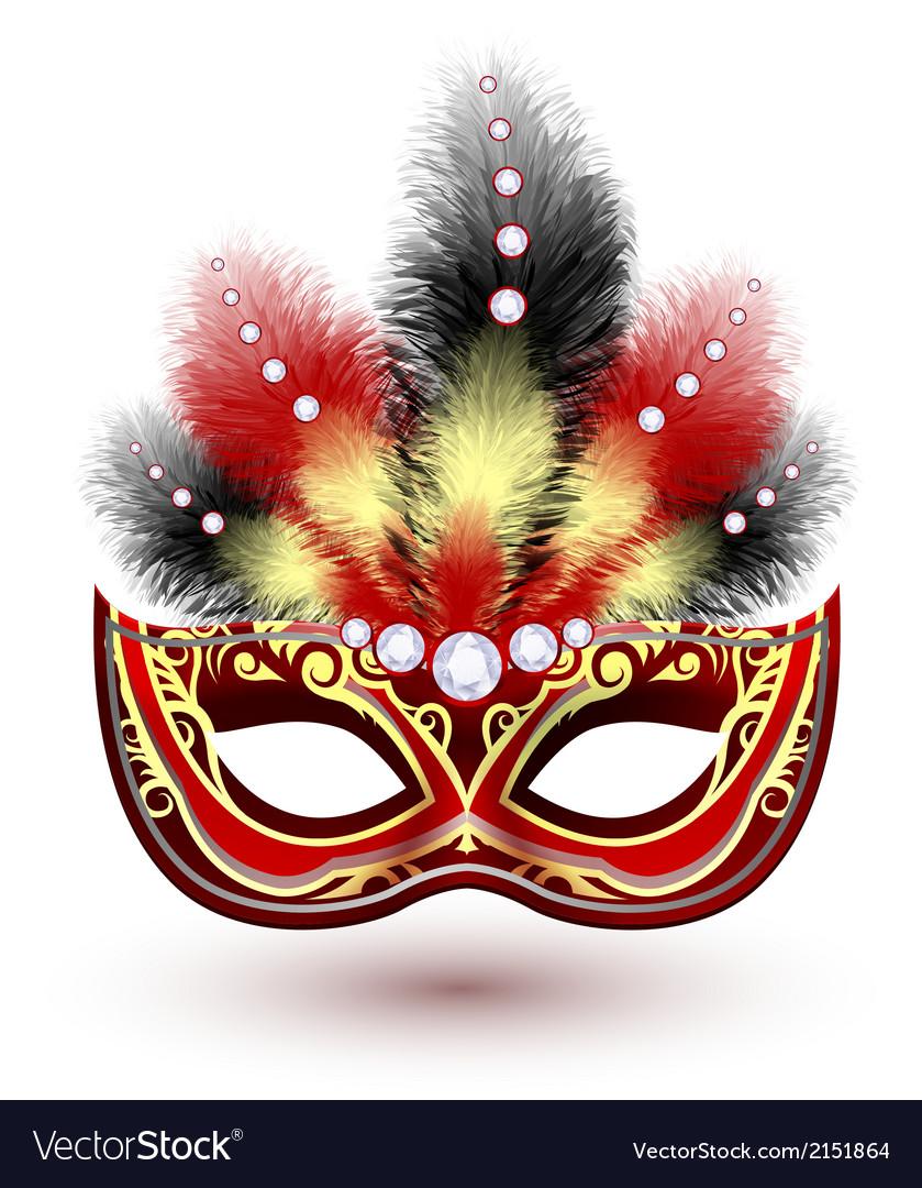Venetian carnival mask emblem