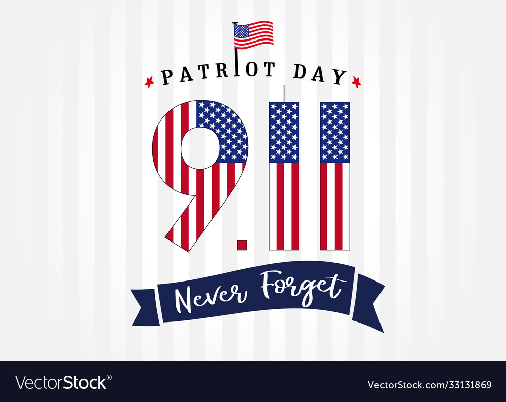 9 11 usa flag never forget partiot day poster