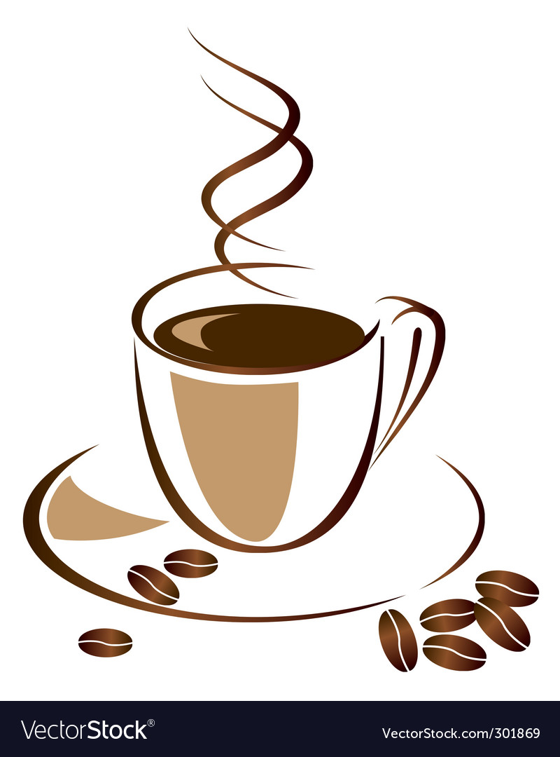 A cup of black coffee vector image
