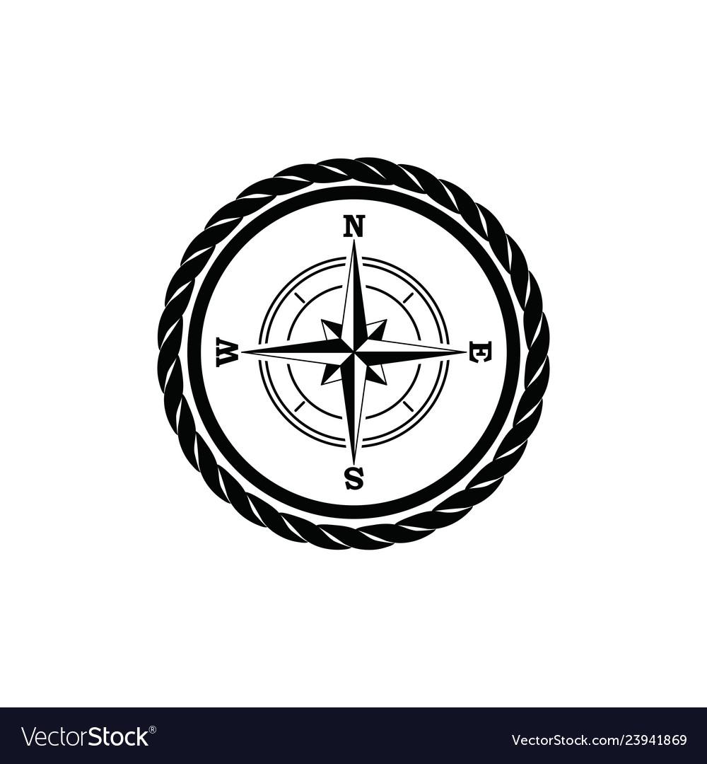Black vintage sailor badge white background logo