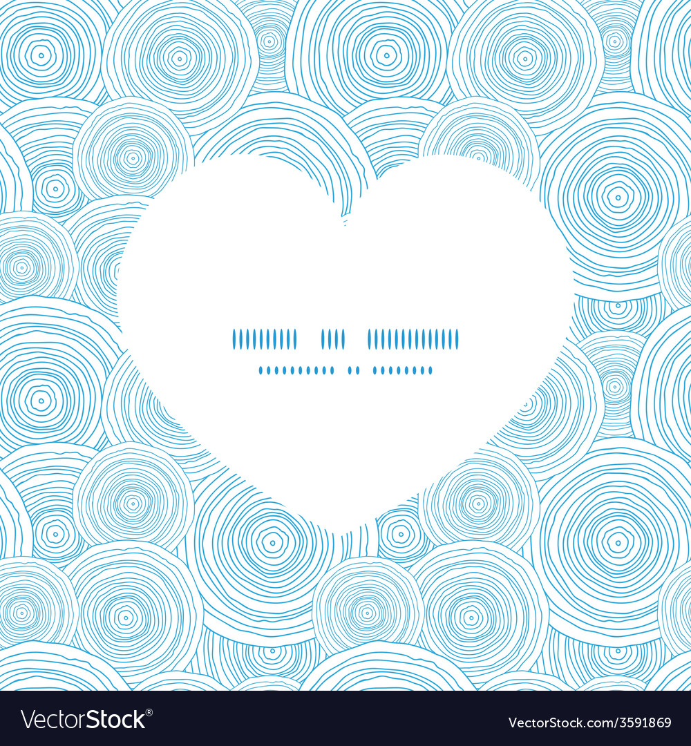 doodle circle water texture heart silhouette vector image  vectorstock