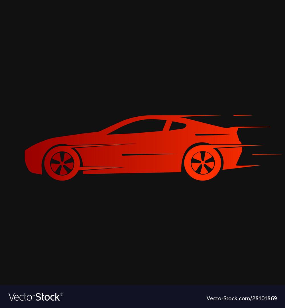 Dynamic silhouette car icon automotive