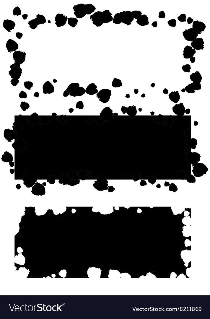 Grunge black frame background set