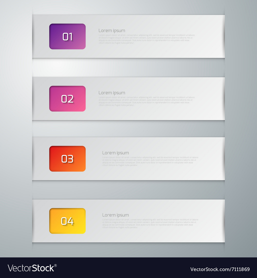 Infographics four options