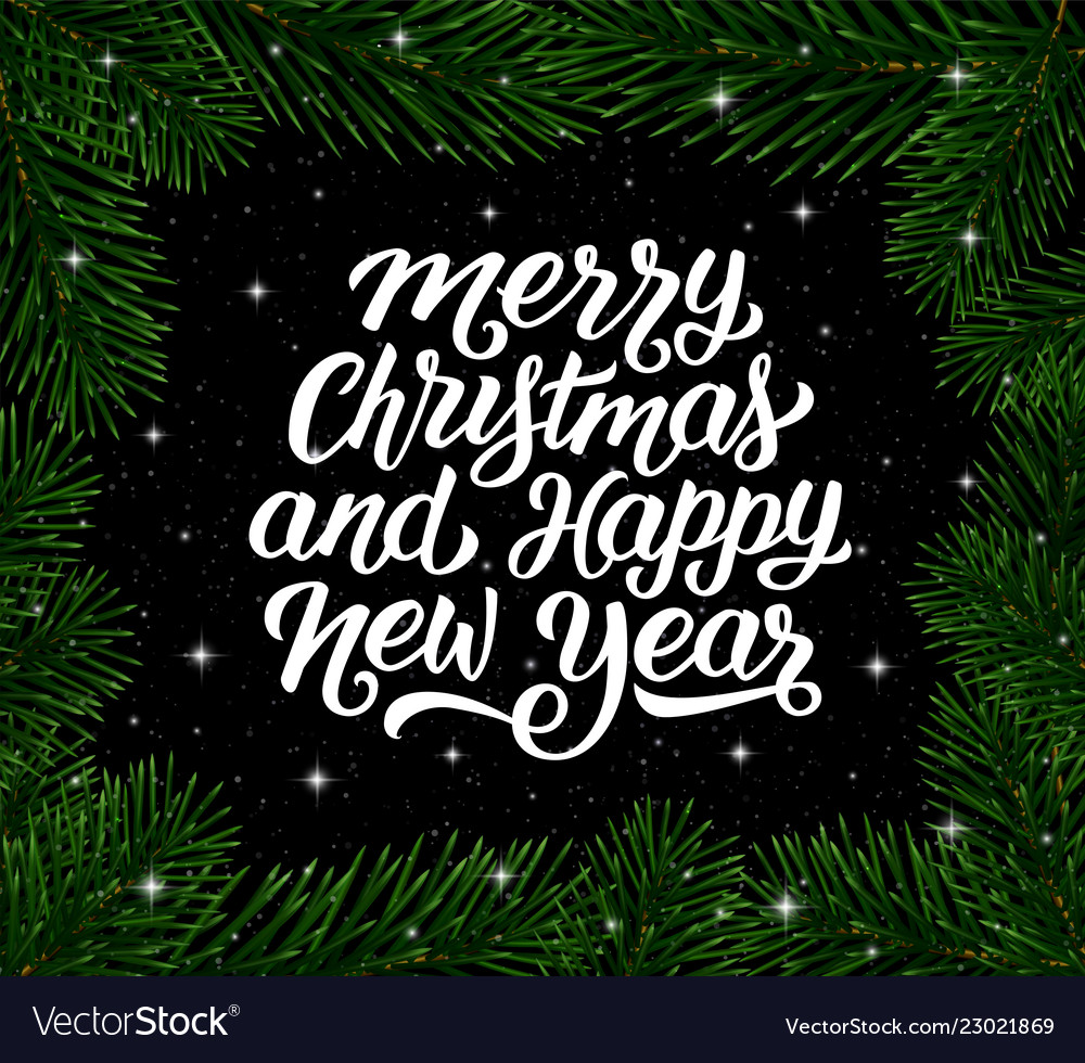 Christmas Tree Cards Designs.Merry Christmas And Happy New Year Card Design