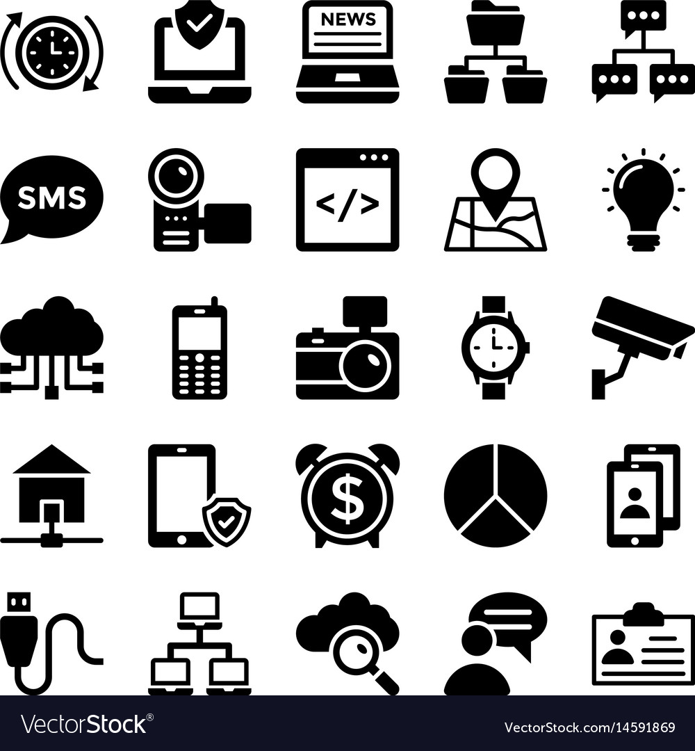 Network and communication icons 8