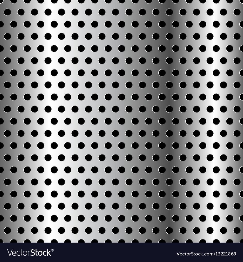 Seamless chrome grid metal background