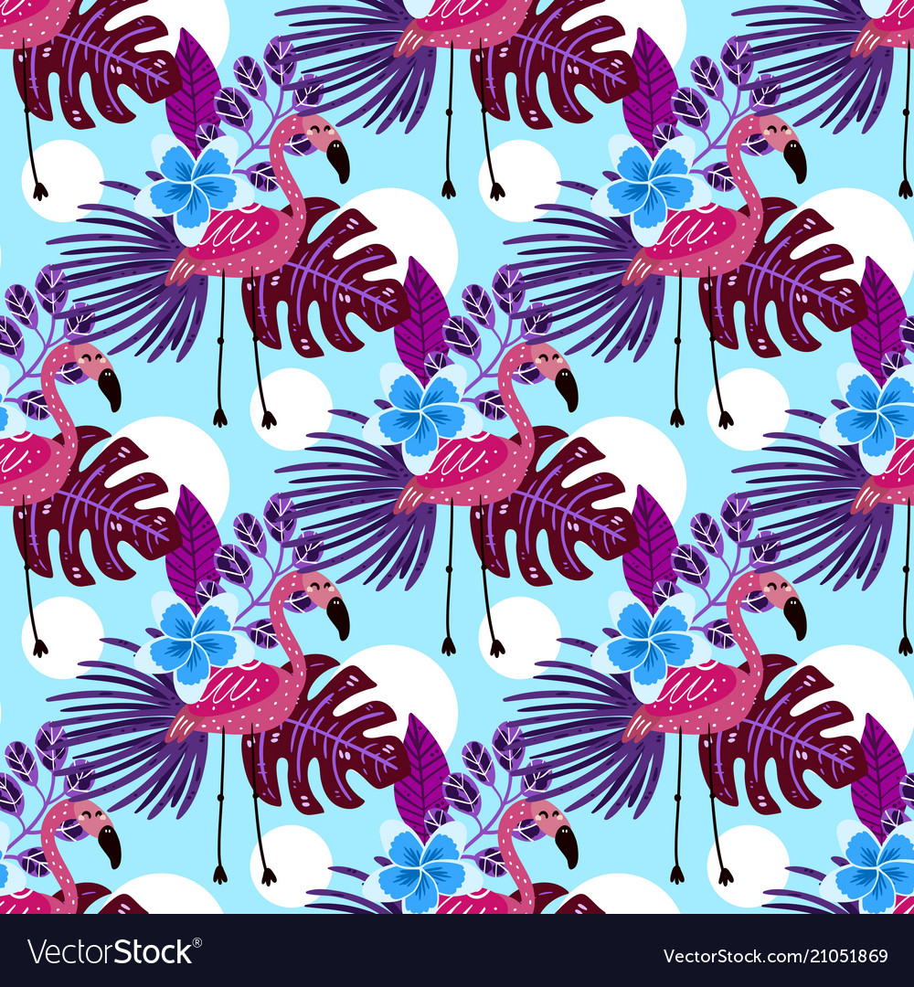 Summer tropical seamless pattern