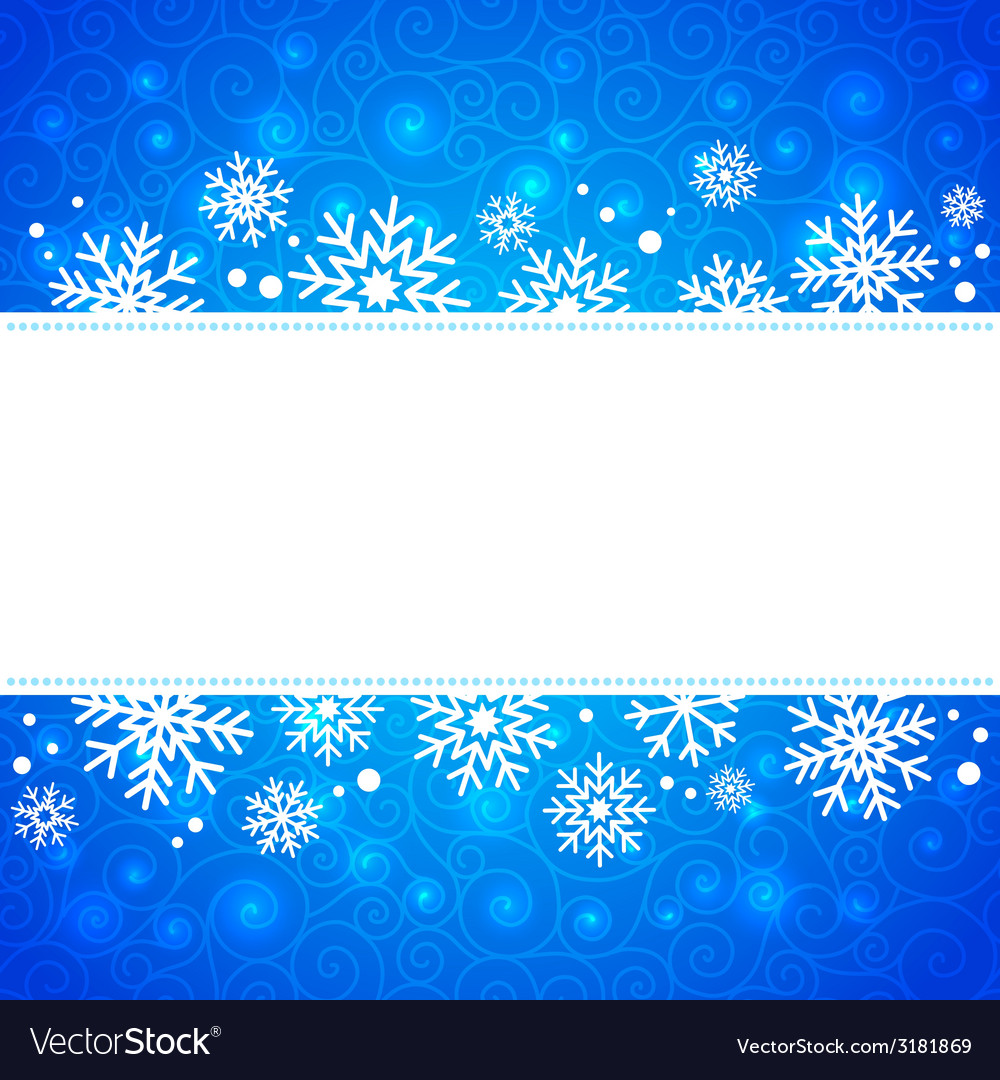 Winter frame with snowflakes and highlights vector image