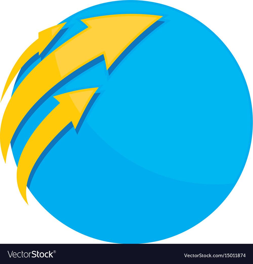 Business circle arrow logo image