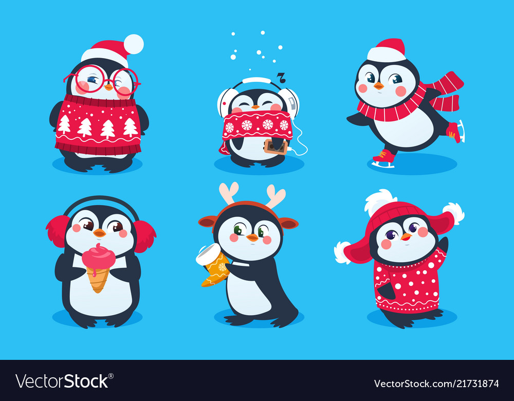 Christmas penguin funny snow animals cute baby