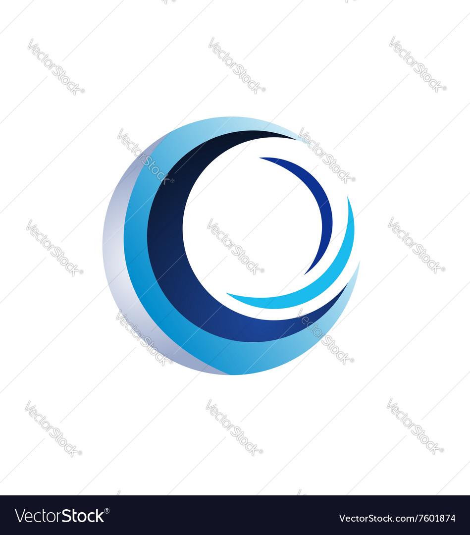 Circle elements logo sphere symbol icon design