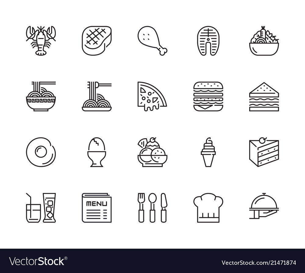 Food and restaurant icons