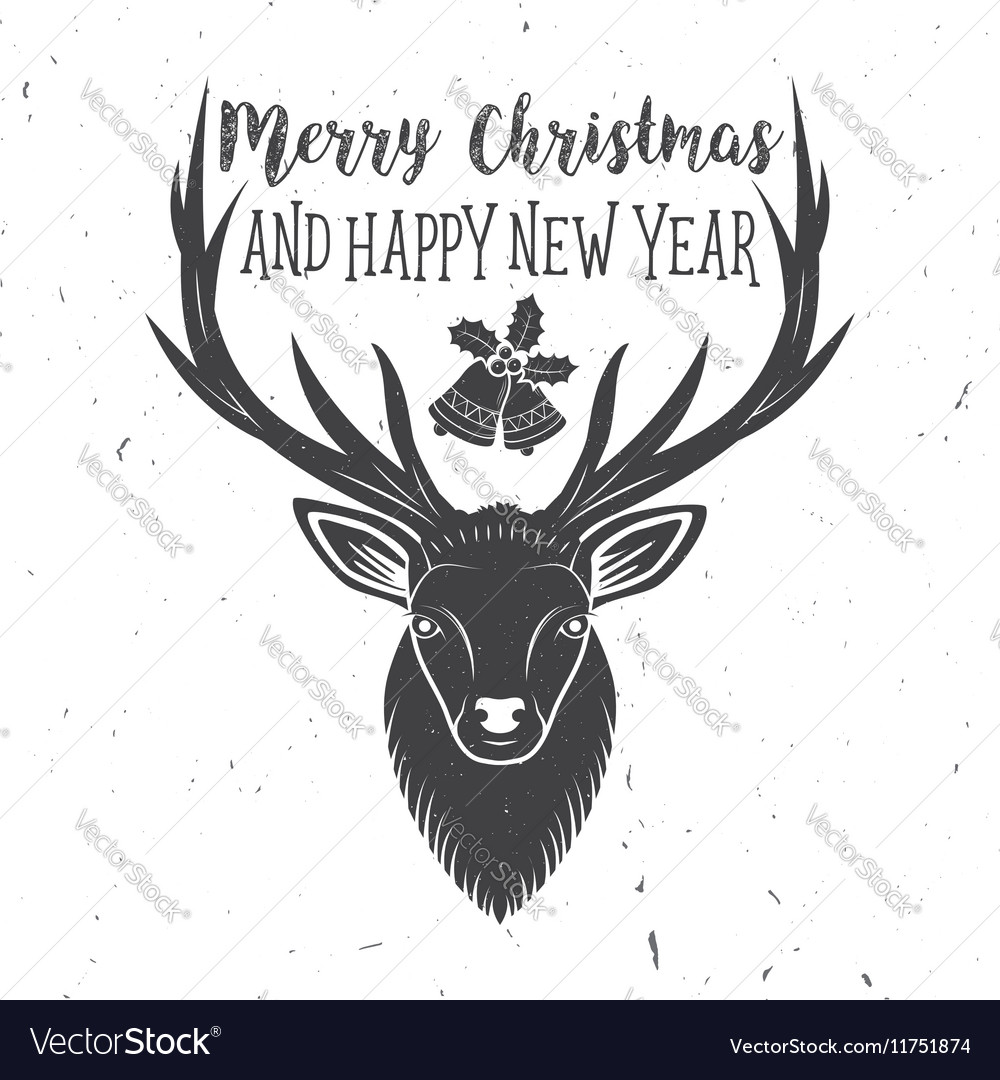 Merry Christmas and Happy New Year 2017 typography