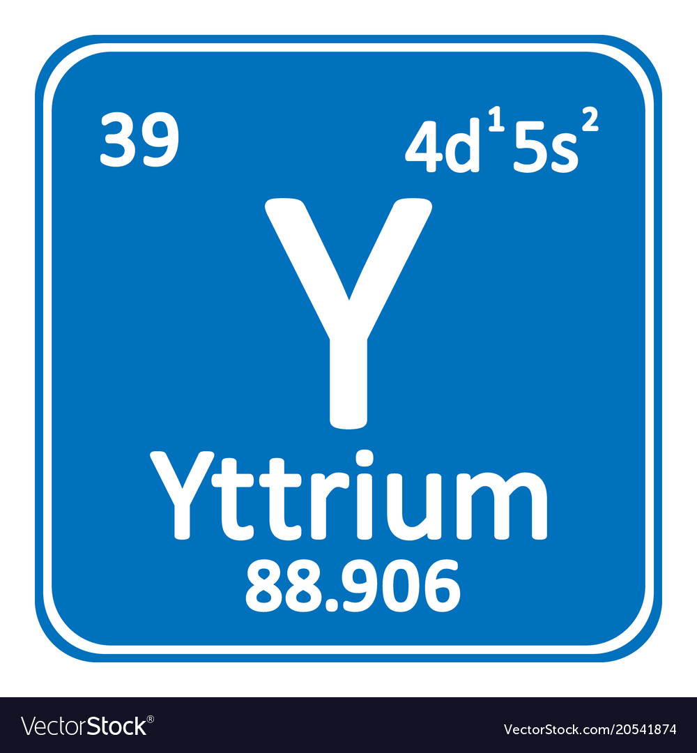 Periodic table element yttrium icon royalty free vector periodic table element yttrium icon vector image urtaz Images