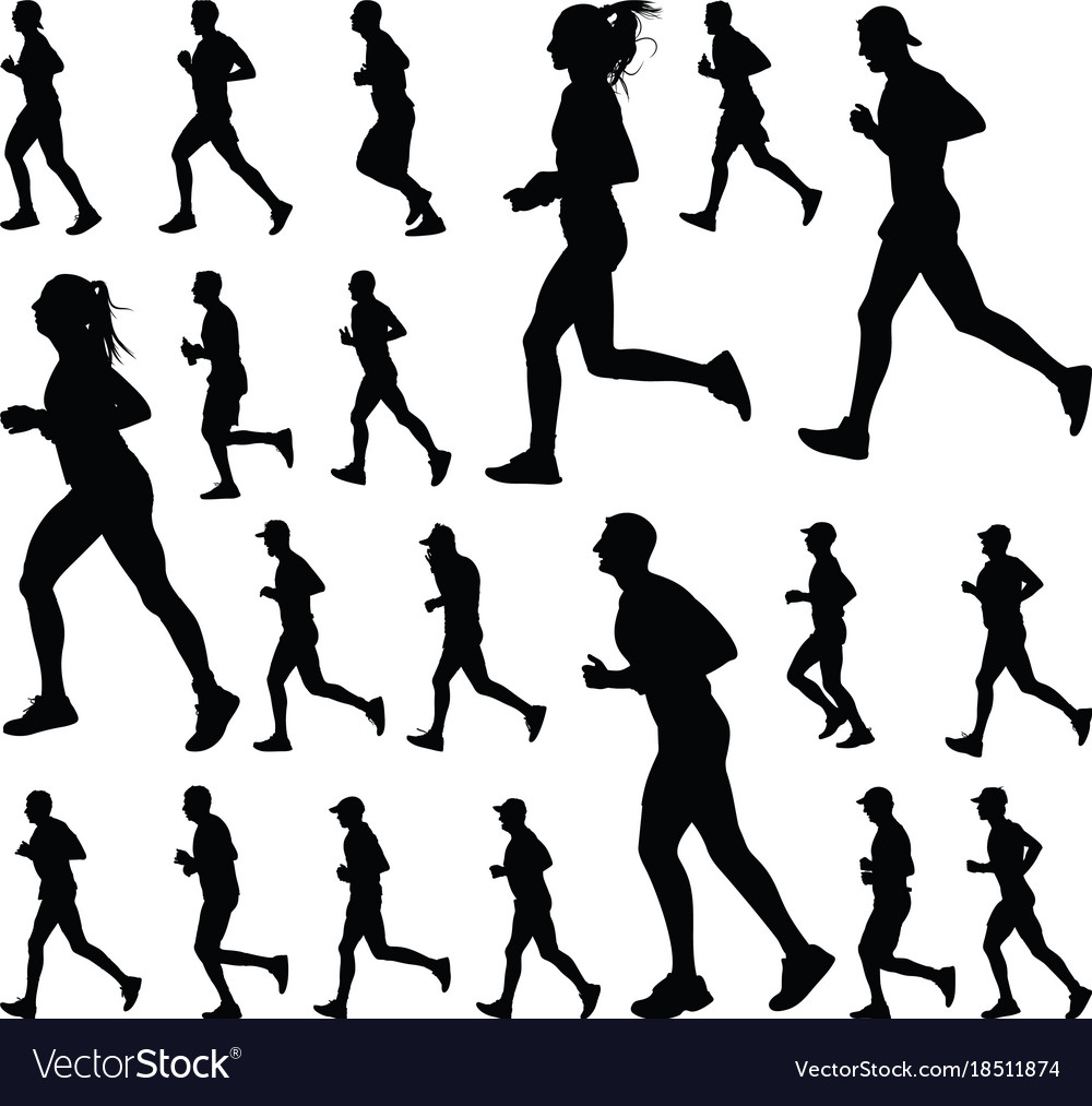 runner silhouette royalty free vector image vectorstock rh vectorstock com road runner vector silhouette road runner vector silhouette