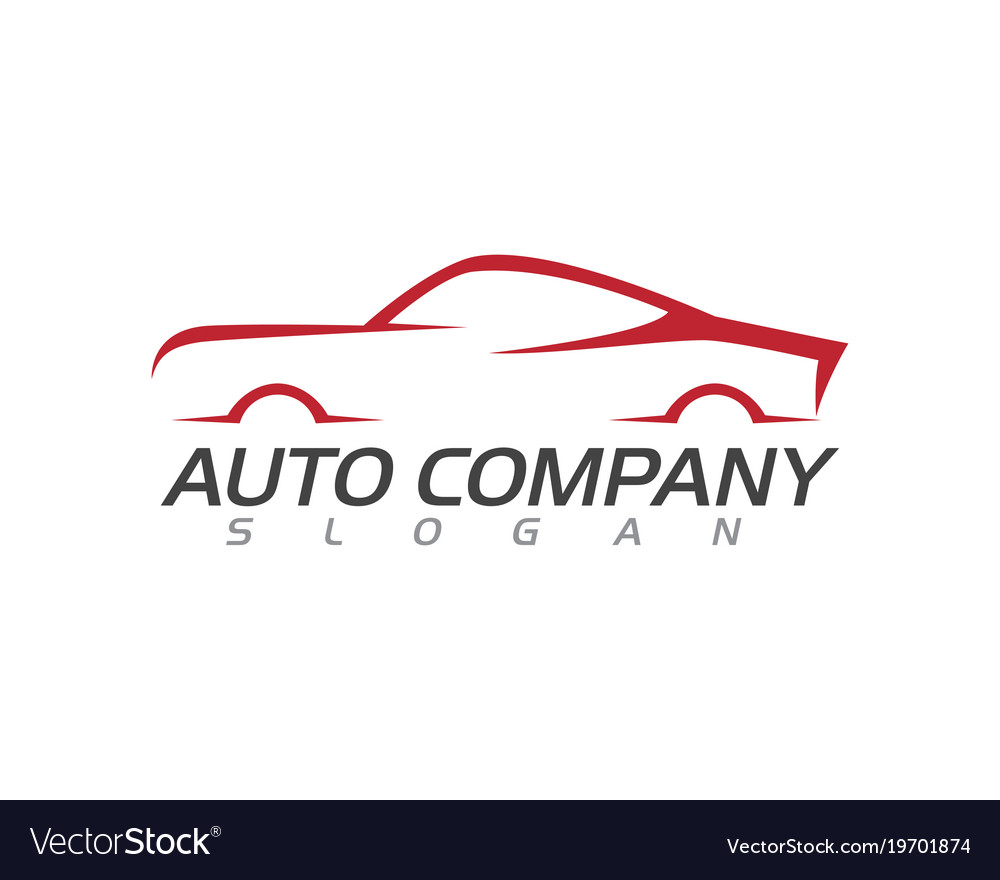 Speed Auto Car Logo Template Royalty Free Vector Image
