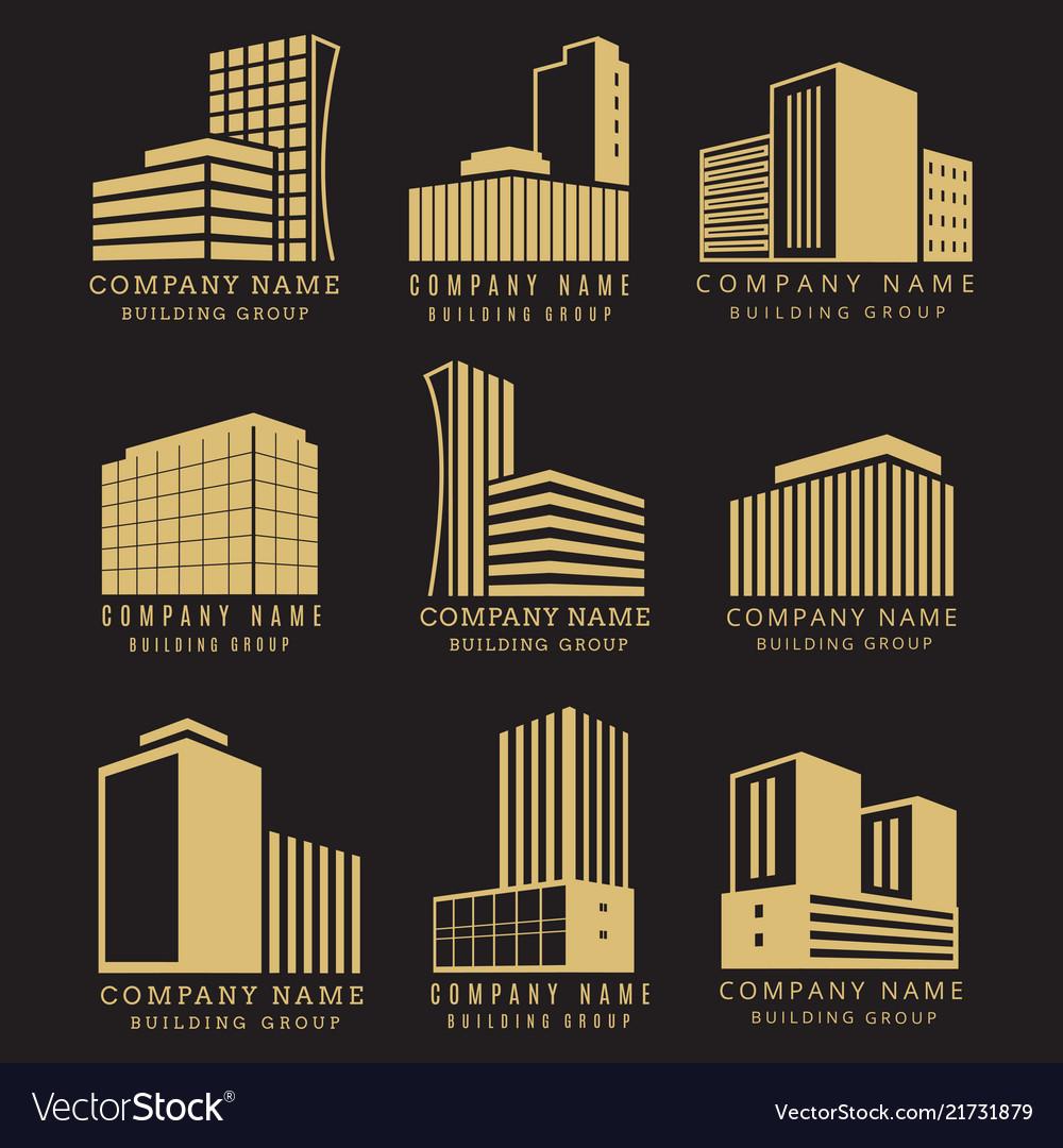 Construction logo real estate emblems