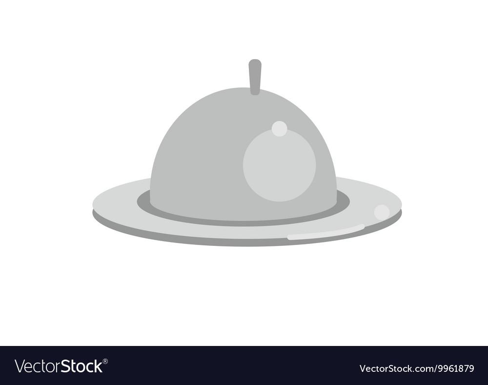 Restaurant cloche in hand the waiter Logo design