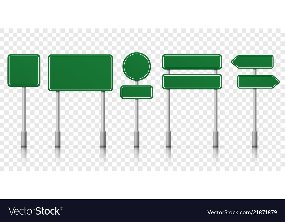 graphic about Sign Templates titled Highway signs and symptoms environmentally friendly template icons