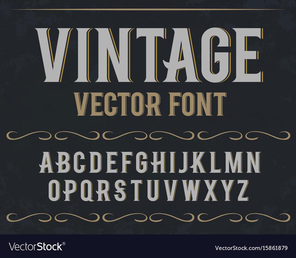 Vintage label font retro font