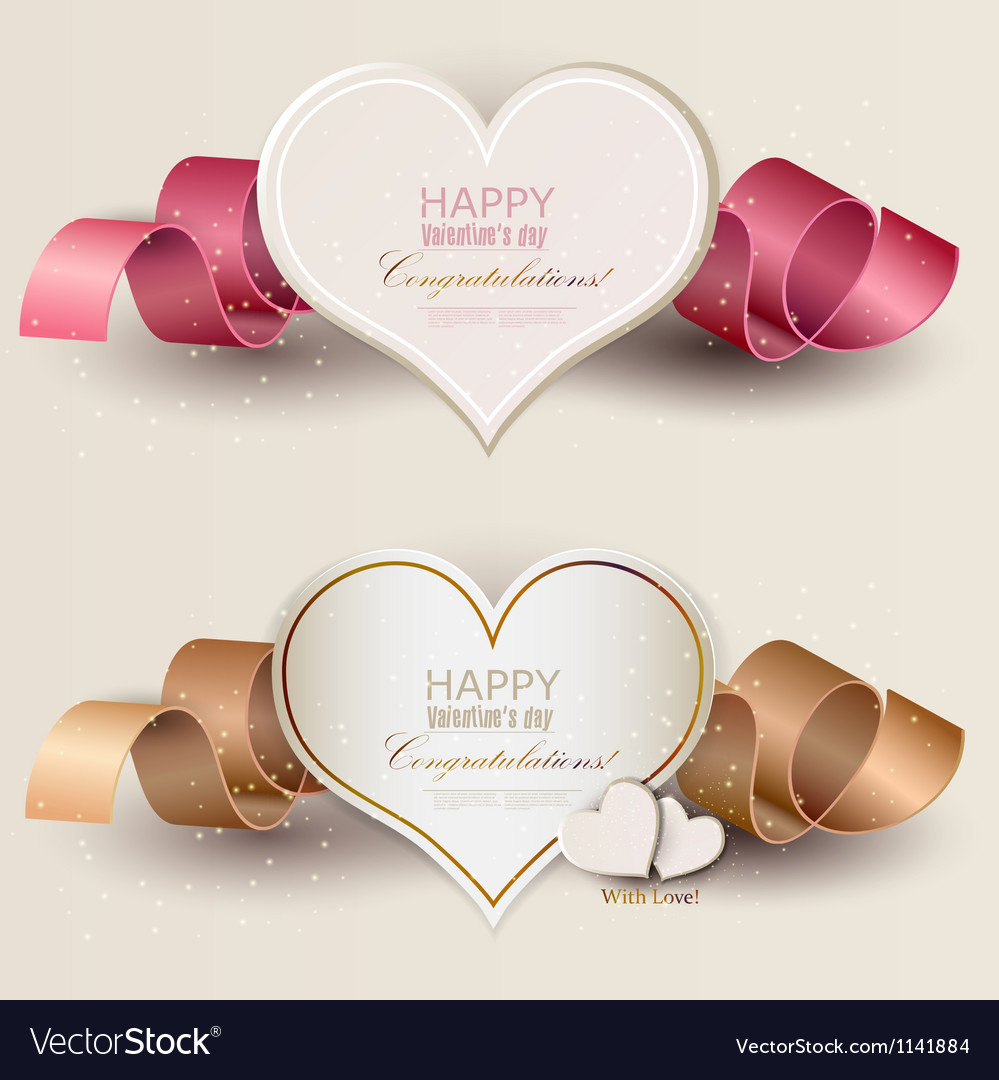 Collection of gift cards with ribbons background