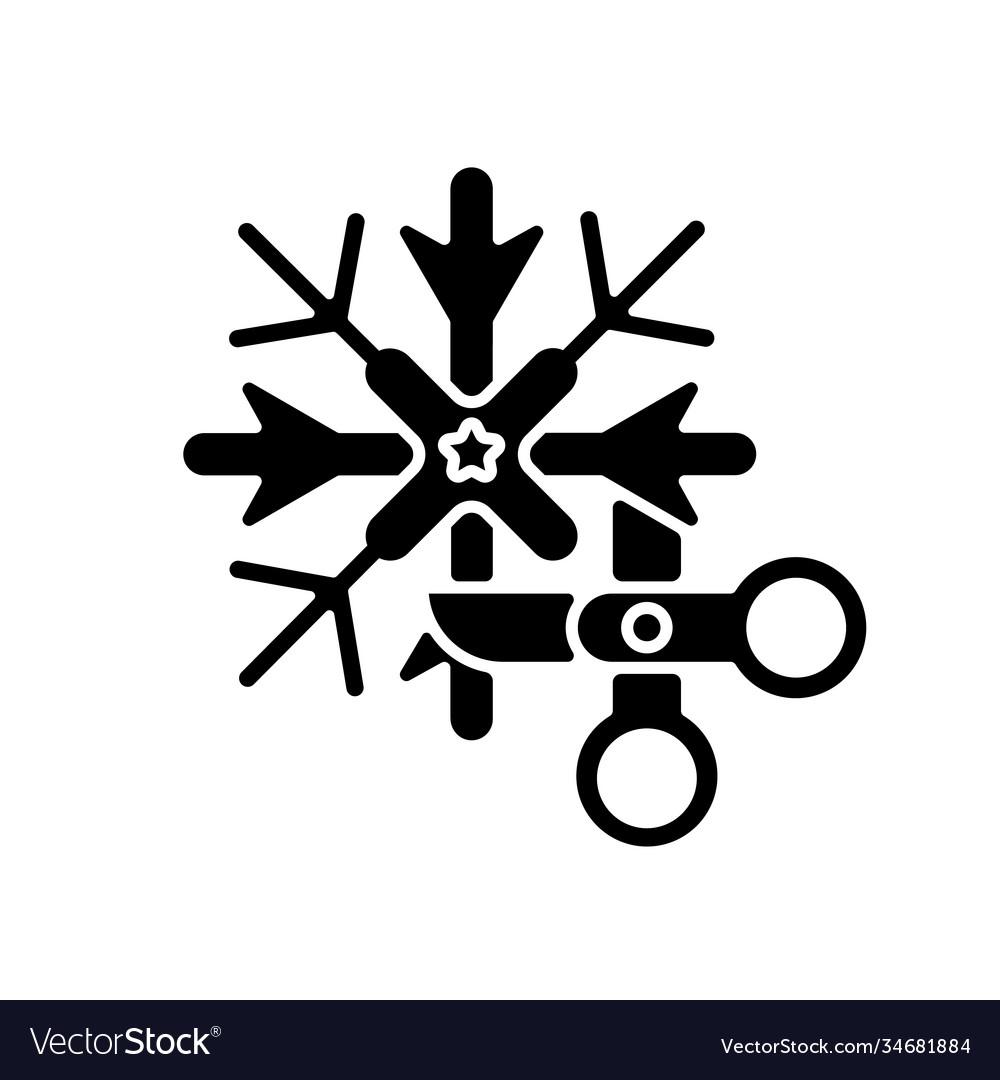 Diy snowflakes black glyph icon