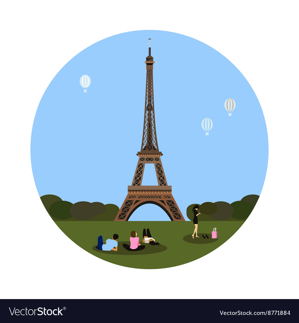 Eiffel tower icon Paris sign