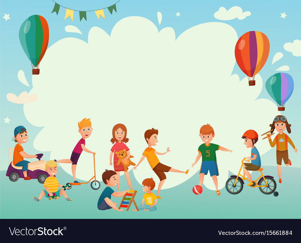 playing kids background royalty free vector image