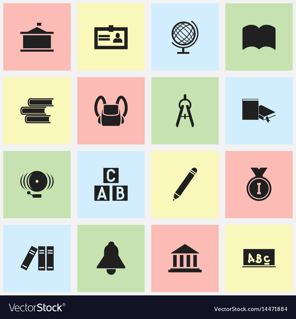 Set of 16 editable science icons includes symbols