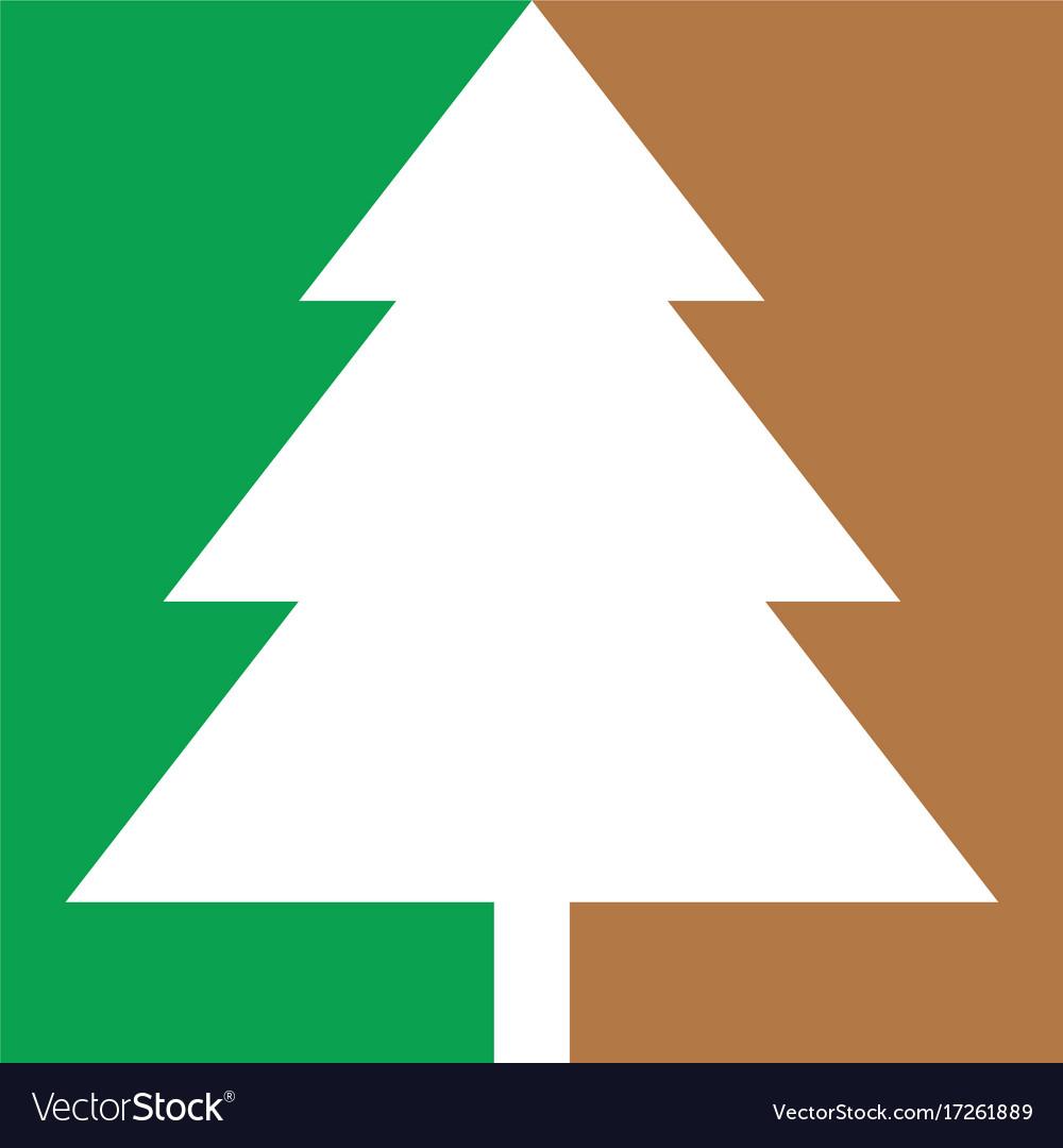 Abstract christmas tree logo icon
