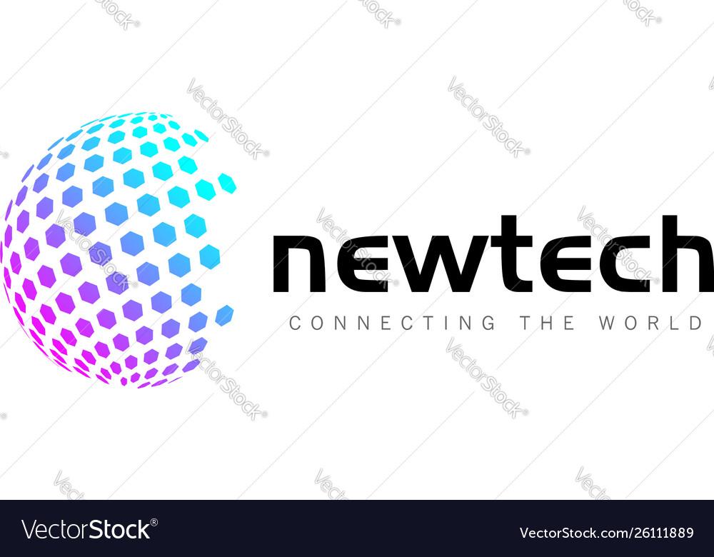 Colorful globe business logo design template