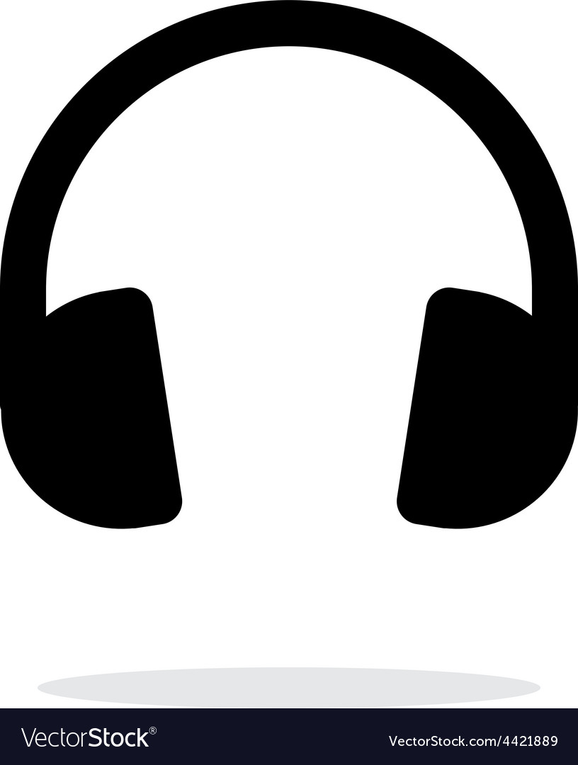 Dj Headphones icon on white background vector image