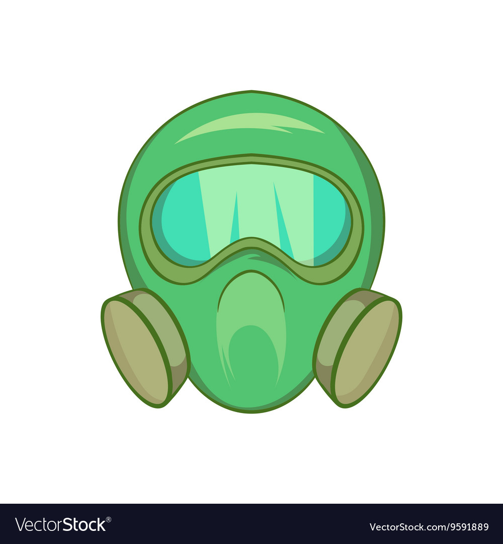 gas mask icon cartoon style royalty free vector image rh vectorstock com cartoon drawing gas mask cartoon gas mask images