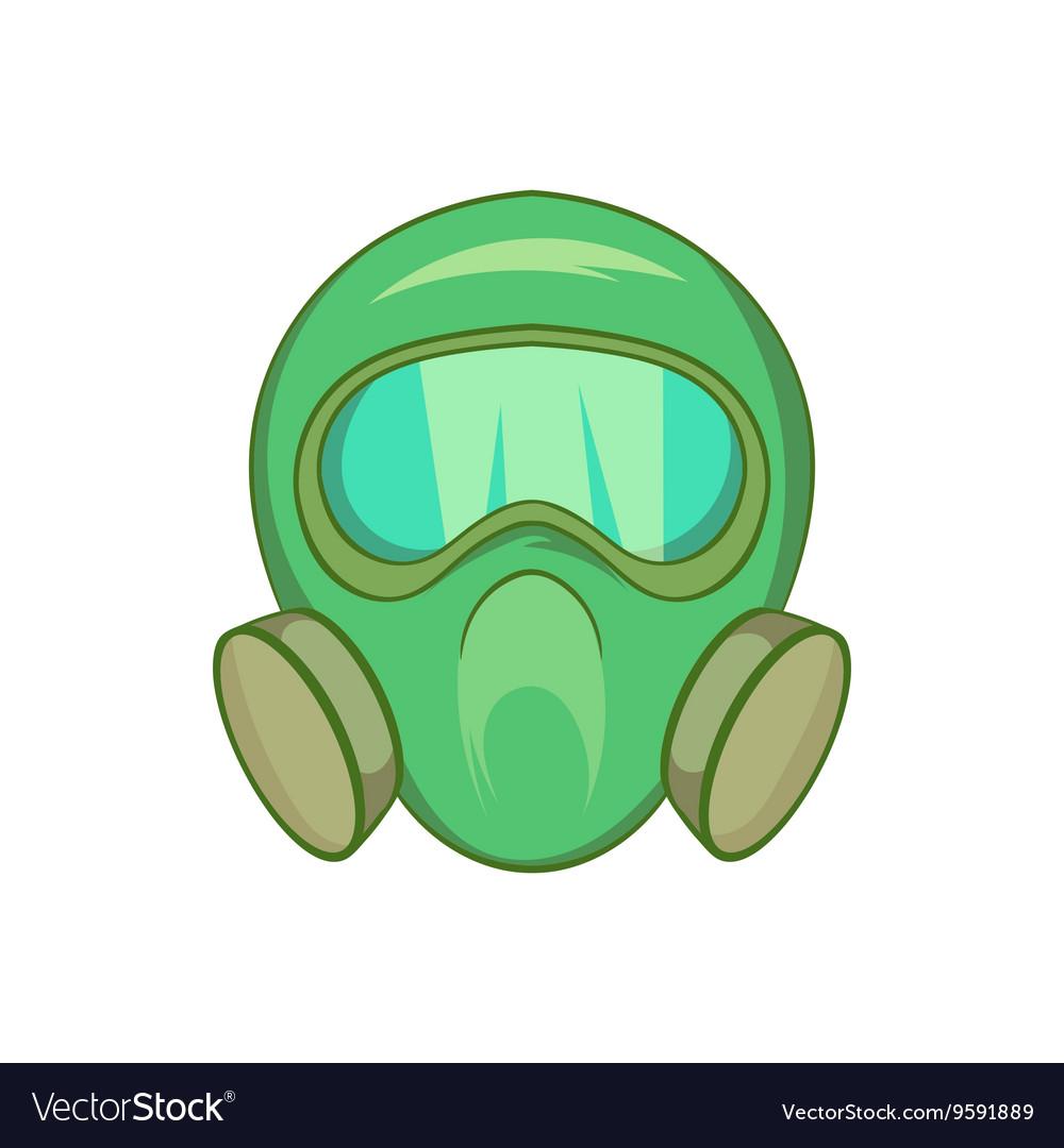 gas mask icon cartoon style royalty free vector image rh vectorstock com gas mask cartoon pics cartoon gas mask