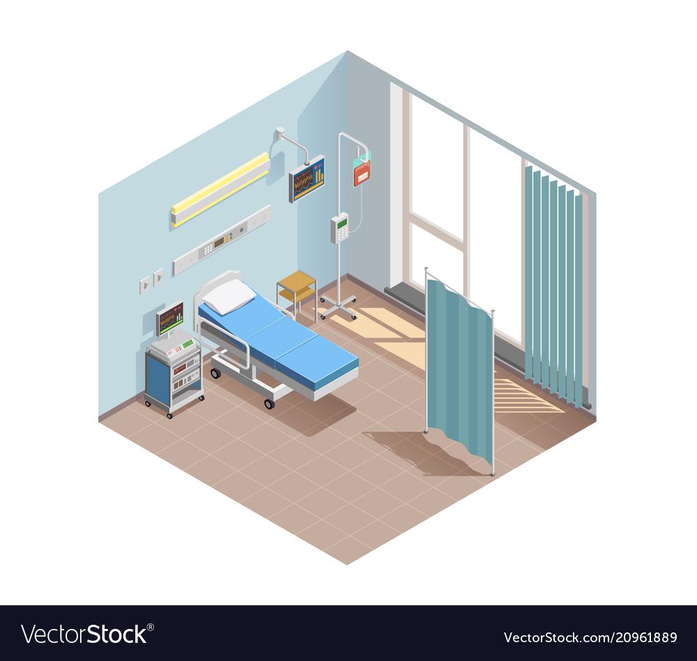 Resuscitation room isometric composition