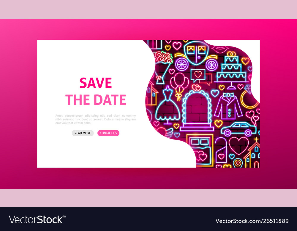 Save date neon landing page