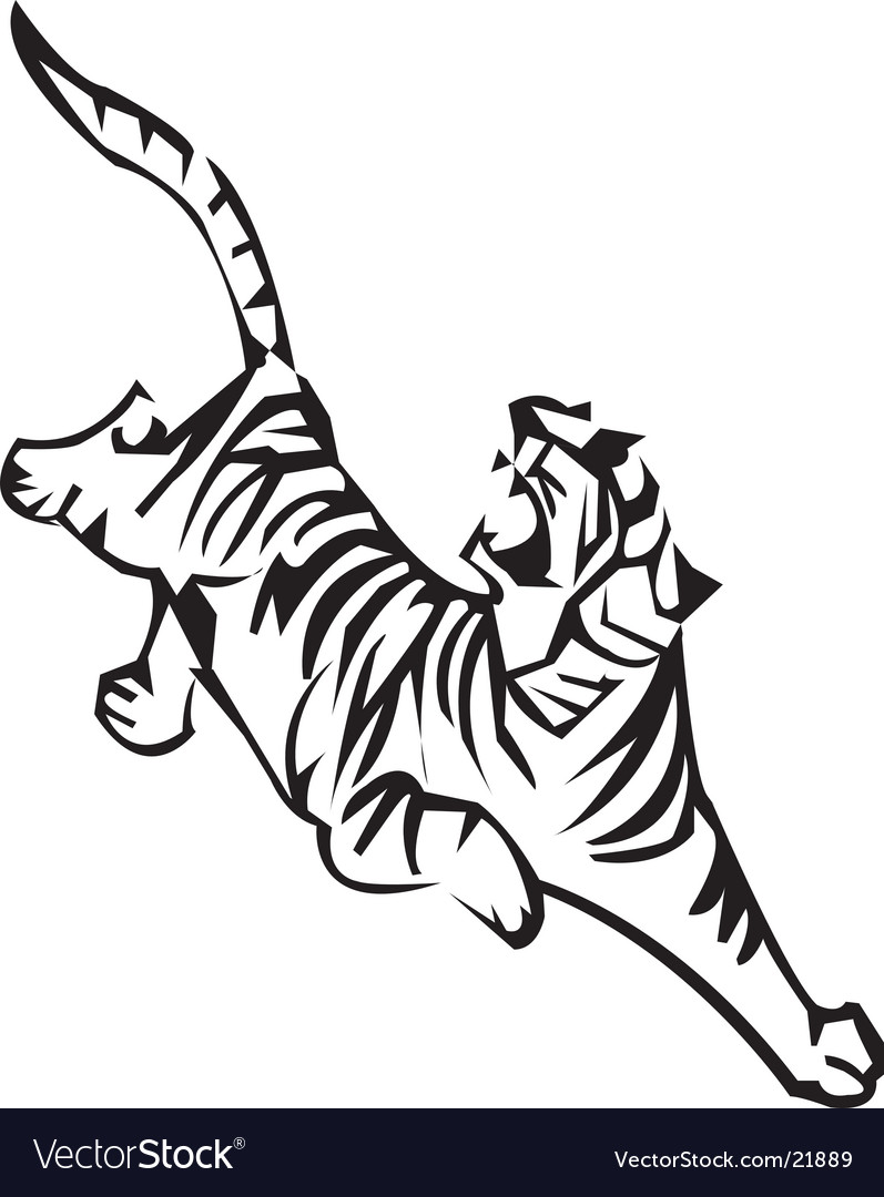 Tiger zodiac vector image
