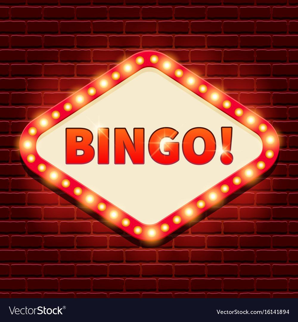 Bingo Casino Lotto Billboard Background Royalty Free Vector