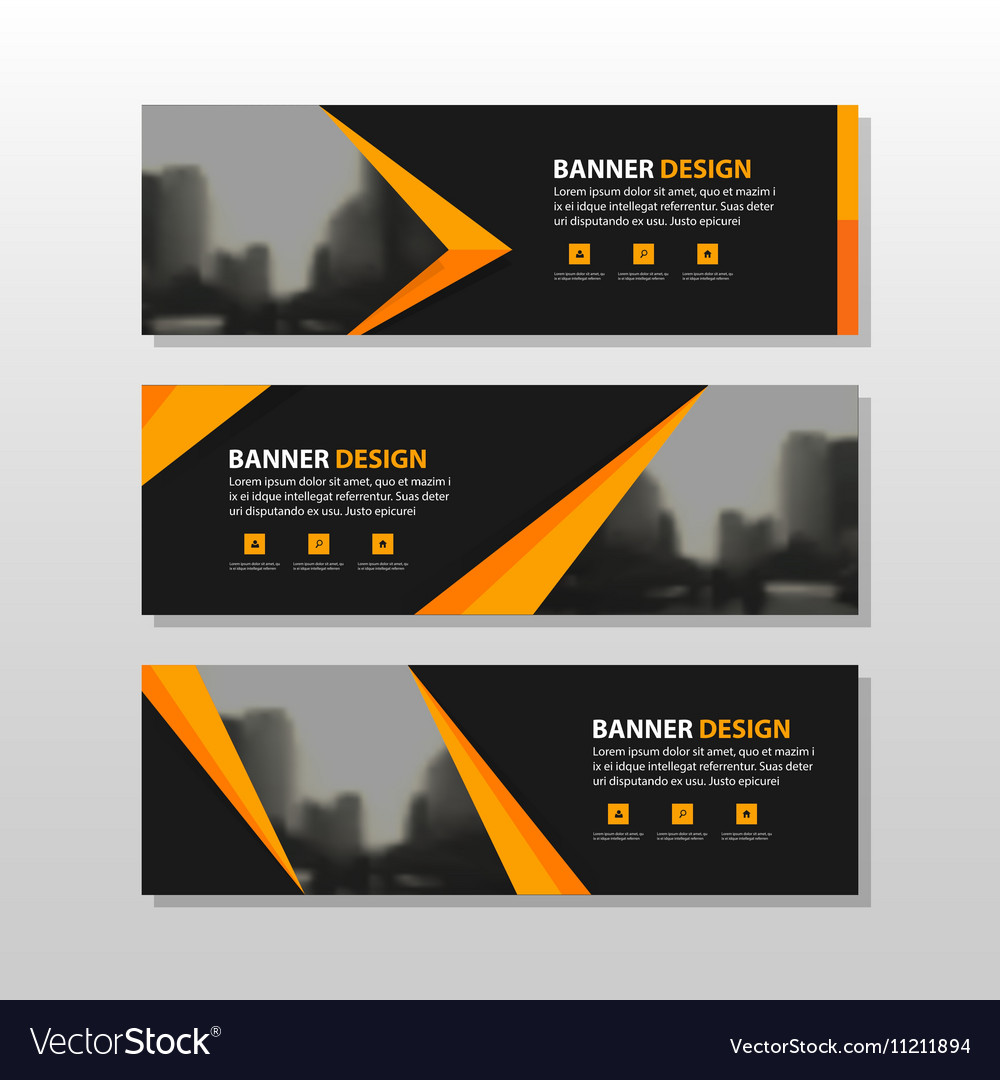 Gold corporate business banner templates set vector image fbccfo