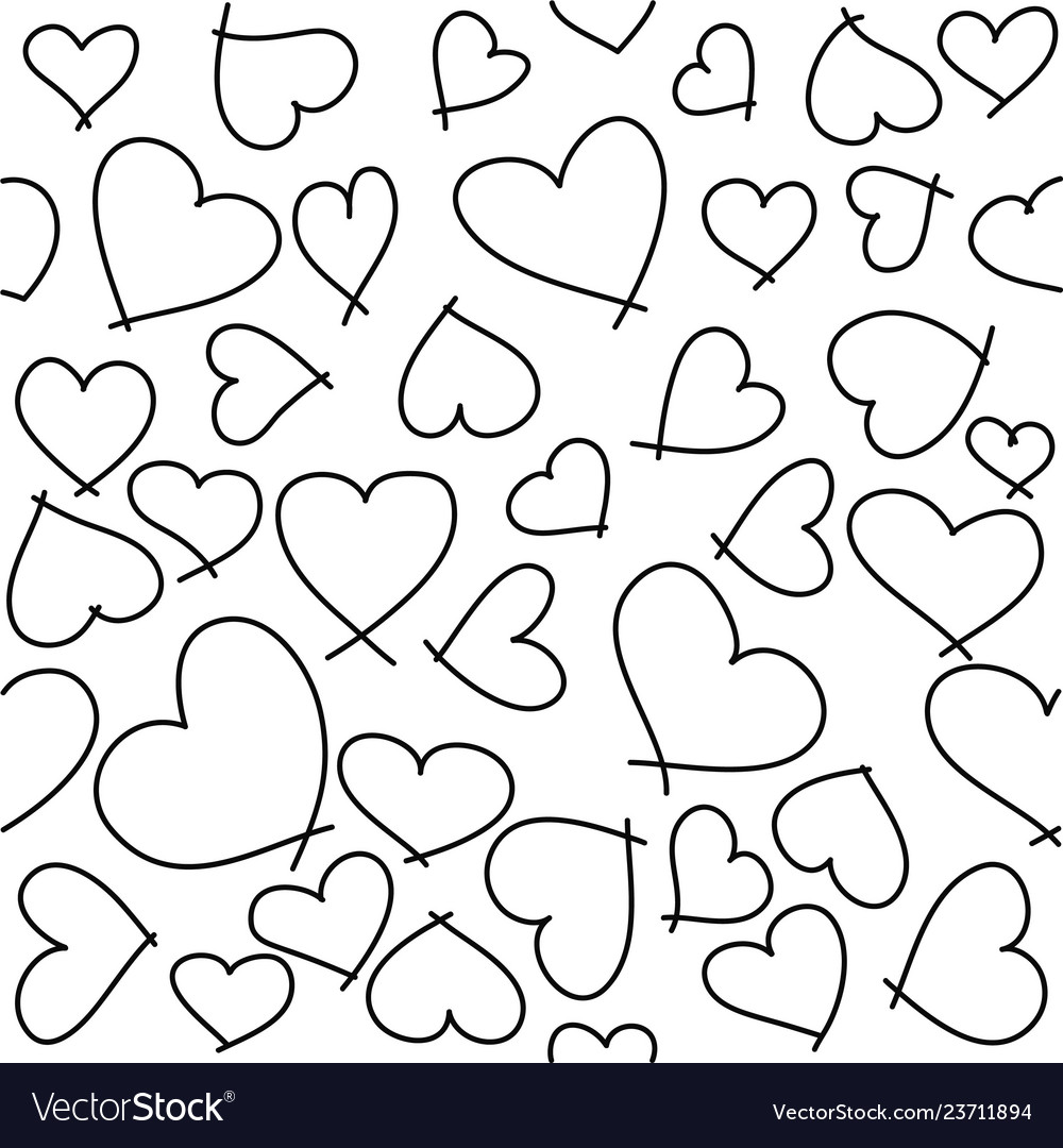 Heart seamless pattern for valentines day