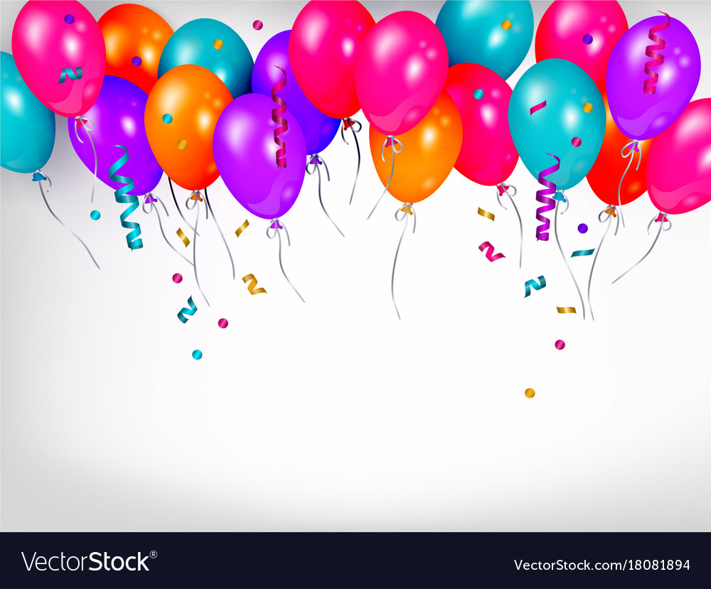 Horizontal line border of shiny colorful balloons vector image thecheapjerseys Images