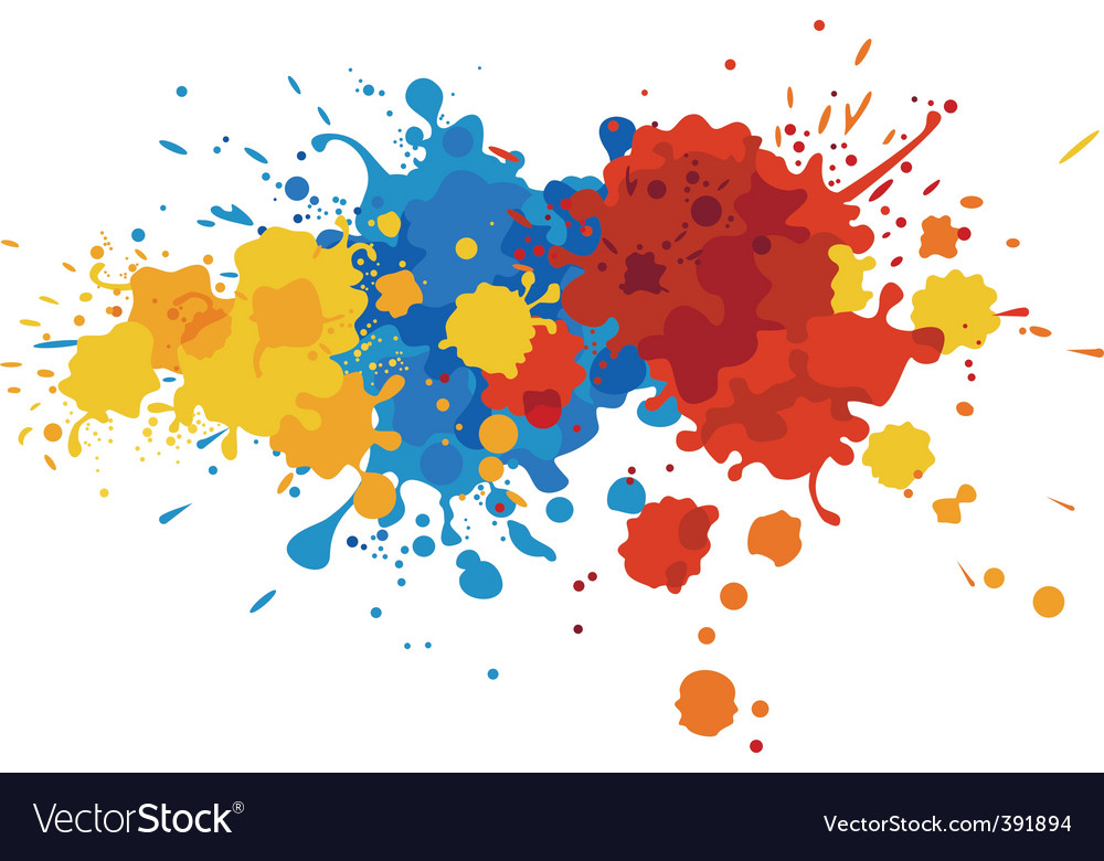 Paint stains vector image