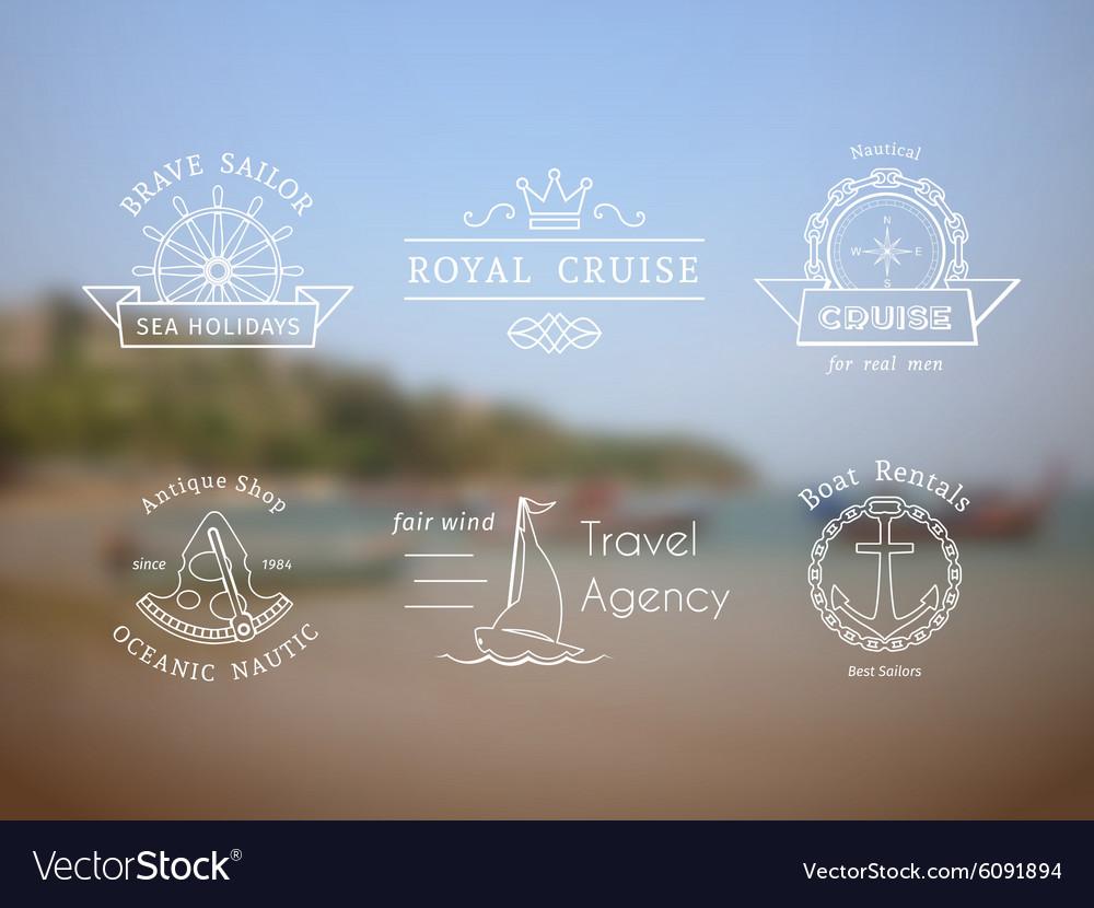 Retro nautical logo templates