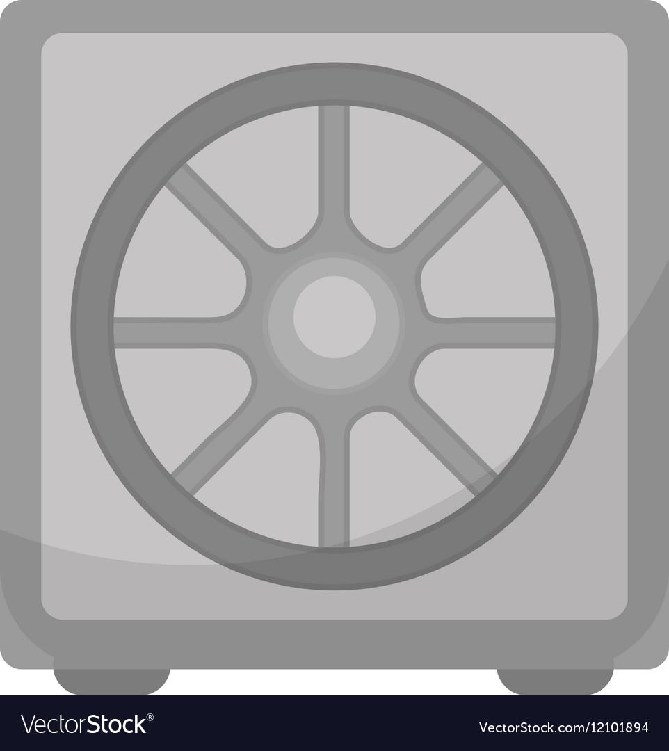 Safe icon flat design Deposit Box isolated on