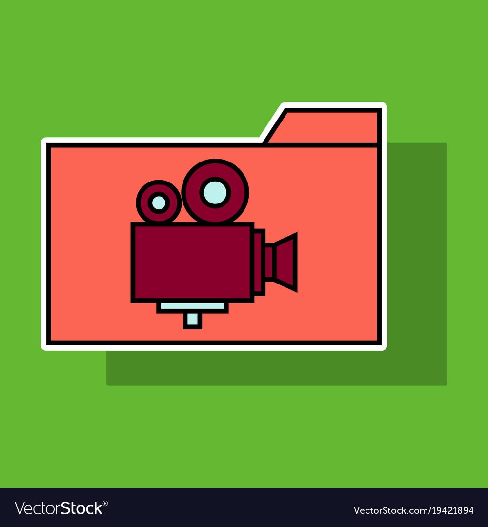 Sticker of folder full of entertainment and