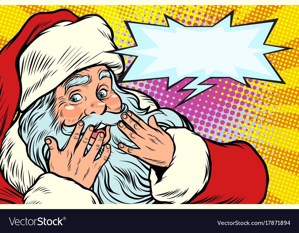 Surprised reaction santa claus christmas