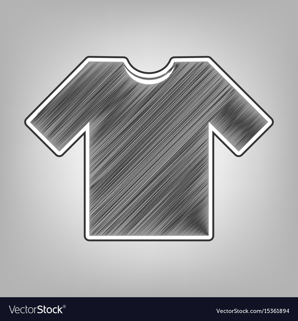 T shirt sign pencil sketch vector image