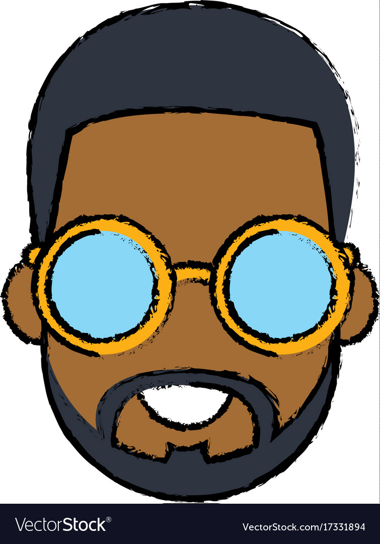 Young man cartoon with sunglasses